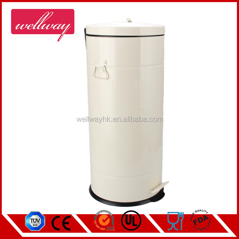 30L large powder coating finishing stainless steel garbage bin for hotel