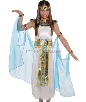 kids halloween costumes egyptian queen toga fancy dress outfit cosplay costume sd153