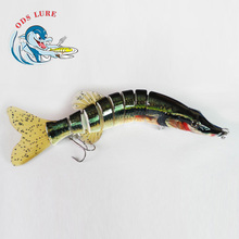 8inch 75g multi jointed fishing lure musky pike zander fishing lures