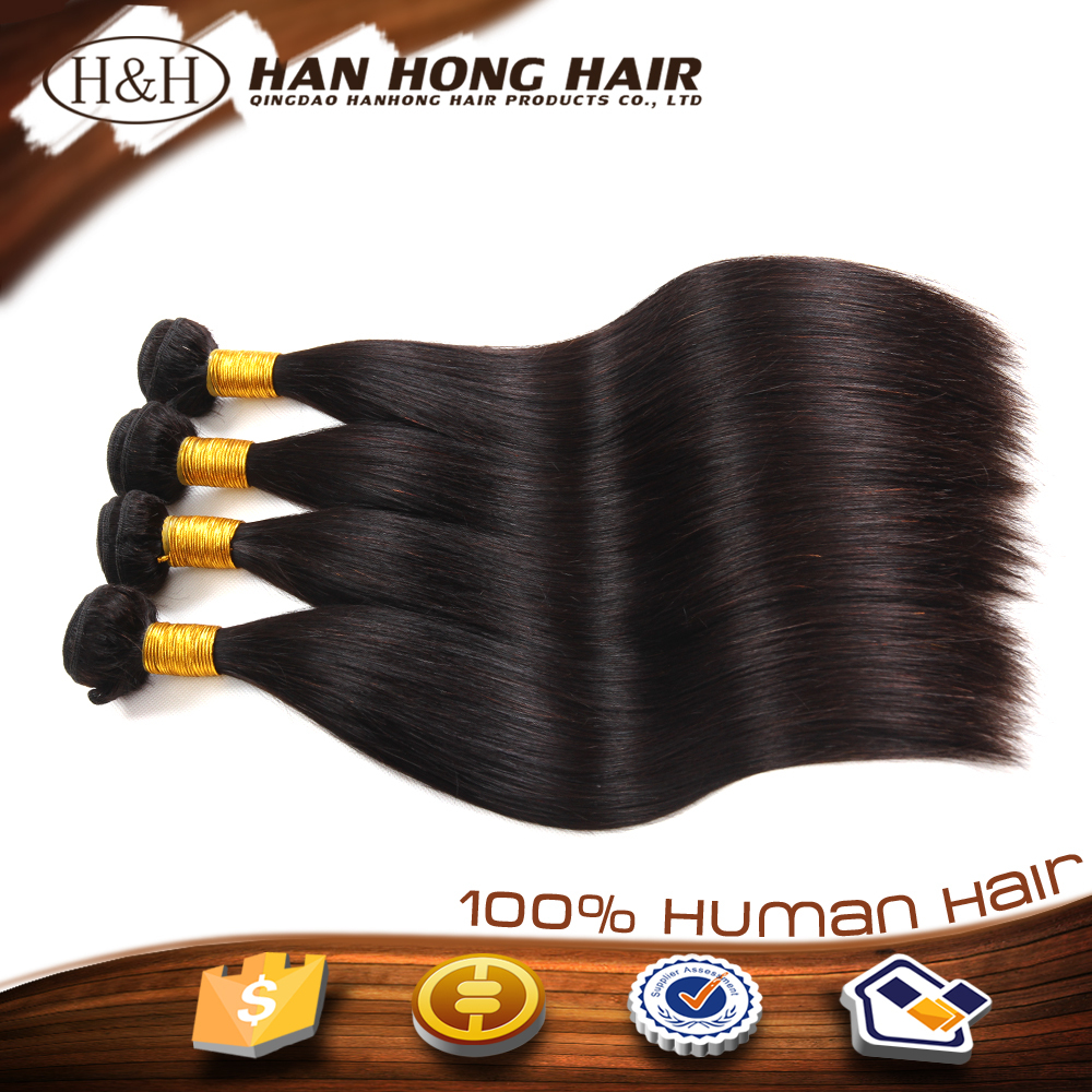 natural high quality full cuticle remy hair weft unprocessed freetress synthetic hair