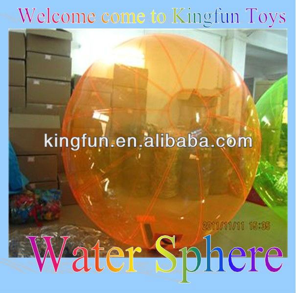 Full Orange iflatable water ball/aqua sphere