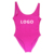 Custom logo One Piece Swimsuit Women Swimwear Bikini Bathing suit  Backless high cut Beachwear swimsuit