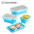 Colorful Silicone Collapsible Bento Box Folding Lunch Box