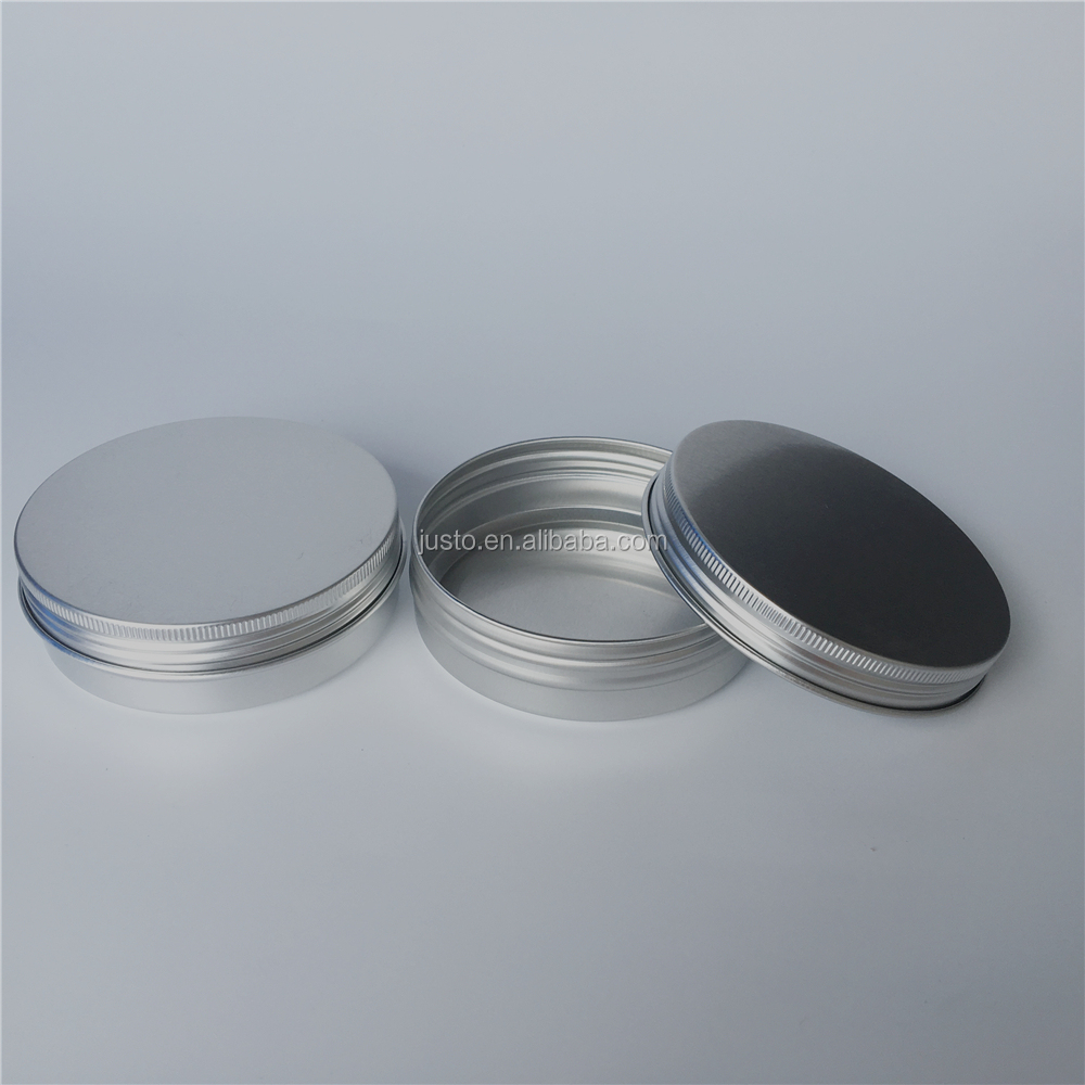 100ml Chinese Supplier Wholesale Silver Aluminum Cosmetic Tins for Cosmetic Storage With Screw Cap