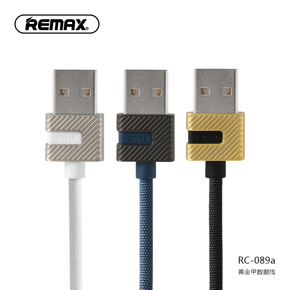 Original Remax RC-089a Zinc Alloy Type C Wired USB Cable 1M