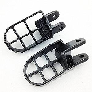 Gunmetal Black- Motorcycle High Quality Black Motocross Dirt Bike Racing Foot Pegs (Left & Right Sides) For Honda CR80R CR80R Expert CR85R CR85R Expert XR250R XR400R XR600R Honda XR650L XR650R
