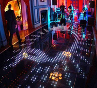 RGB Video Dance Floor stage floor for disco party wedding ktv wedding night club