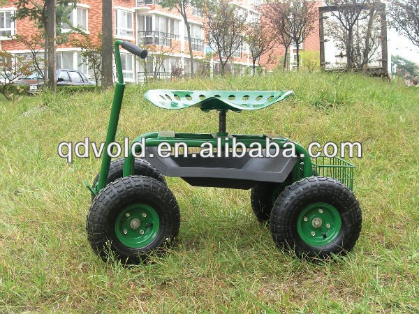 Green Dolly Garden Cart With Seat And Wheels Buy Dolly Garden