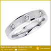Women's Silver IP Plating Stainless Steel Crystals Engagement Band Ring