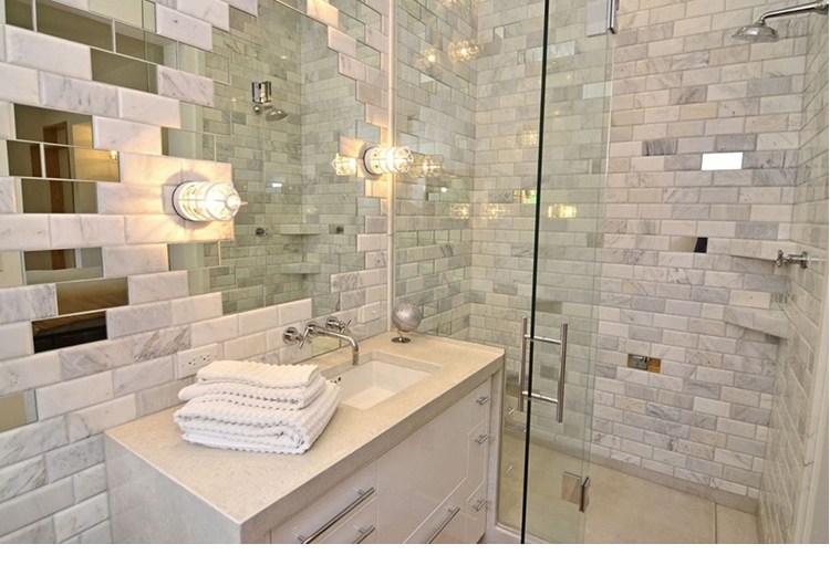 kitchen / bath wall carrara white marble look ceramic carrara subway tile sheets white beveled subway tile bathroom