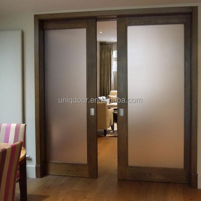 1 lite lite completo de vidrio templado esmerilado marco for Marco puerta madera