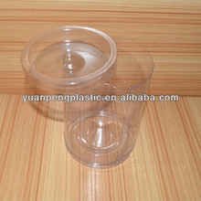 Clear High Transparent custom made PVC Plastic Packaging Tube With Lid, clear plastic round box