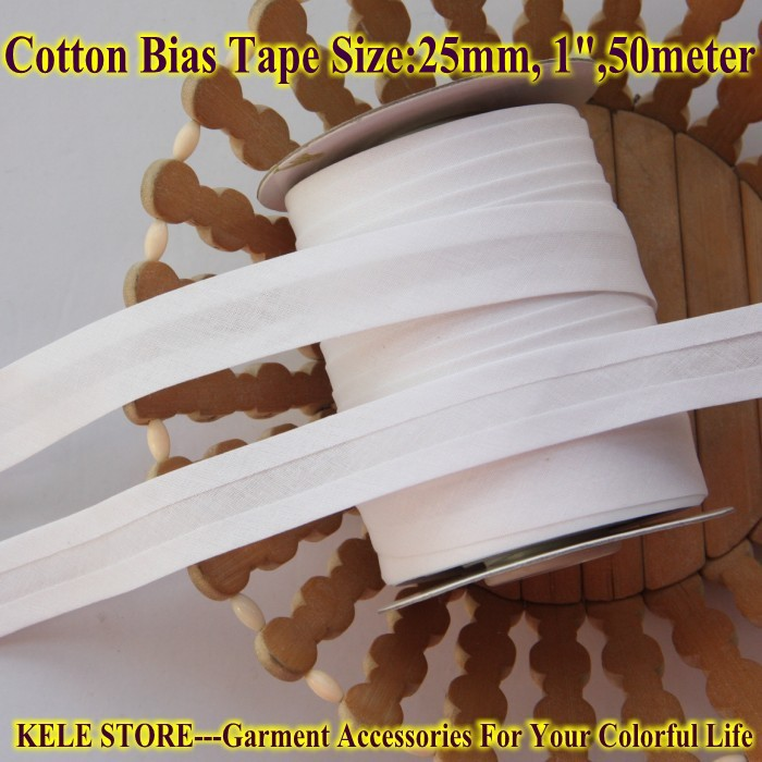 FREE SHIPPING 100% Cotton Bias Tape, Bias Binding Tape