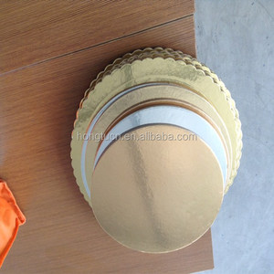 Gold round different sizes and thickness cake board/cake drum