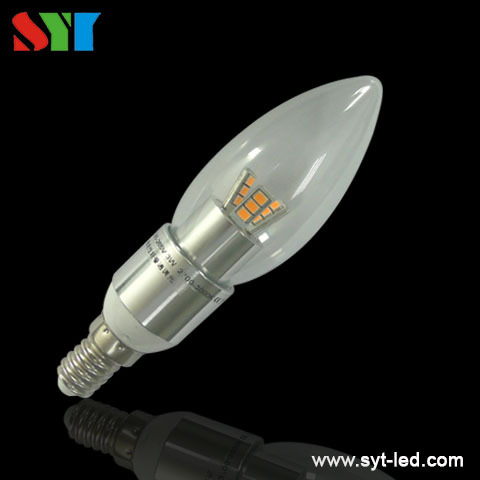 3W dimmable 12v 24v UL CUL led candle lamp E12 E14 b22 B15 SMD5730