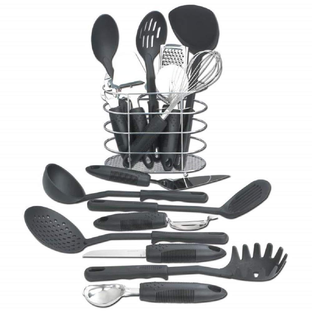 Kitchen Set Tools Cooking Piece Tool Utensil Utensils Stainless Steel Spatula Spoon New Gadgets Nylon Kitchen Cooking Utensils Set MyEasyShopping