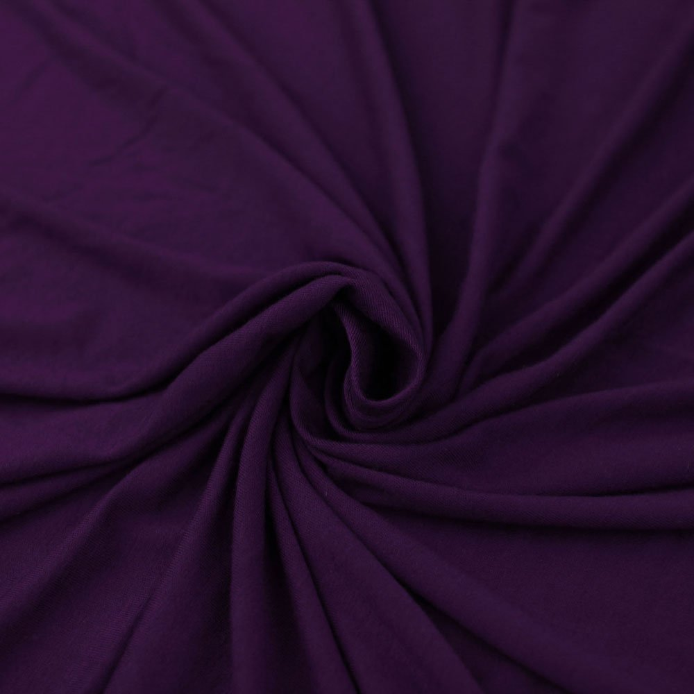 EGGPLANT Heavy Knit Fabric, 200GSM Rayon Jersey Knit Fabric, Causal Jersey Knit Fabric, Knitting Fabric by the Yard - 1 YARD