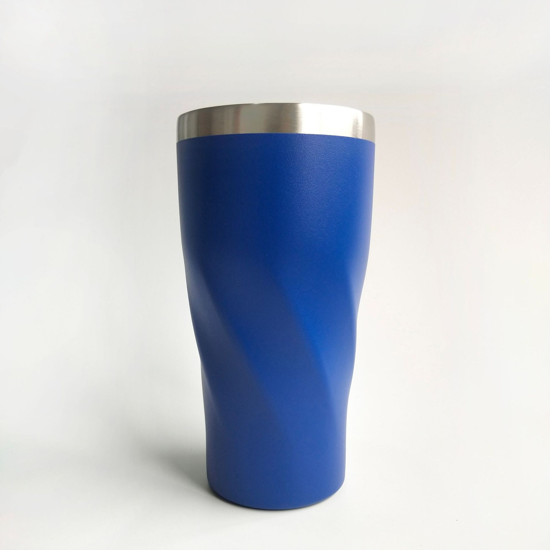 2019 Hot 18/8 Stainless Steel Thermal Hot/Cold Tumbler Powder Coated Twisted Cup With Lid