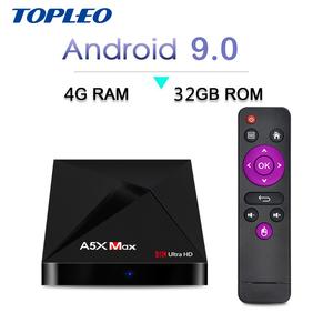 Rockchip RK3328 firmware update A5X MAX 4GB ram android 9 0 smart digital  set top tv box