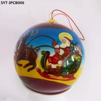 Hand painted glass christmas ball