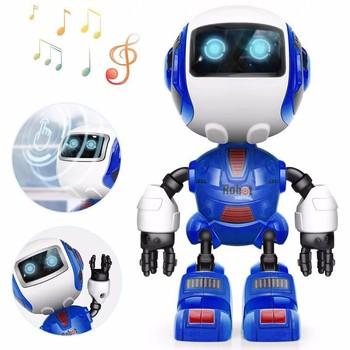 Niños Electrónico Acción Juguetes De Inteligente Luz Figura Aleación Sensitiv Para Led Juguete Cabeza Robot Regalo Touch reoCxdBW