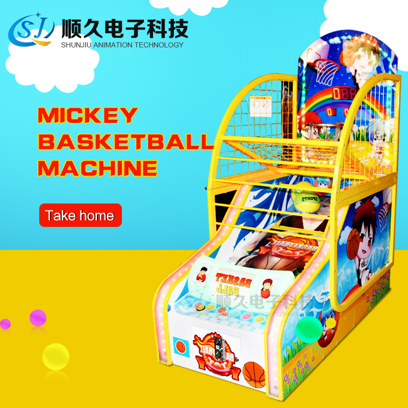coin operated amusement equipment shooting basketball arcade game machine Micky Basketball for kids