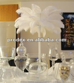 snow white ostrich feather wing plume drab for wedding. Black Bedroom Furniture Sets. Home Design Ideas