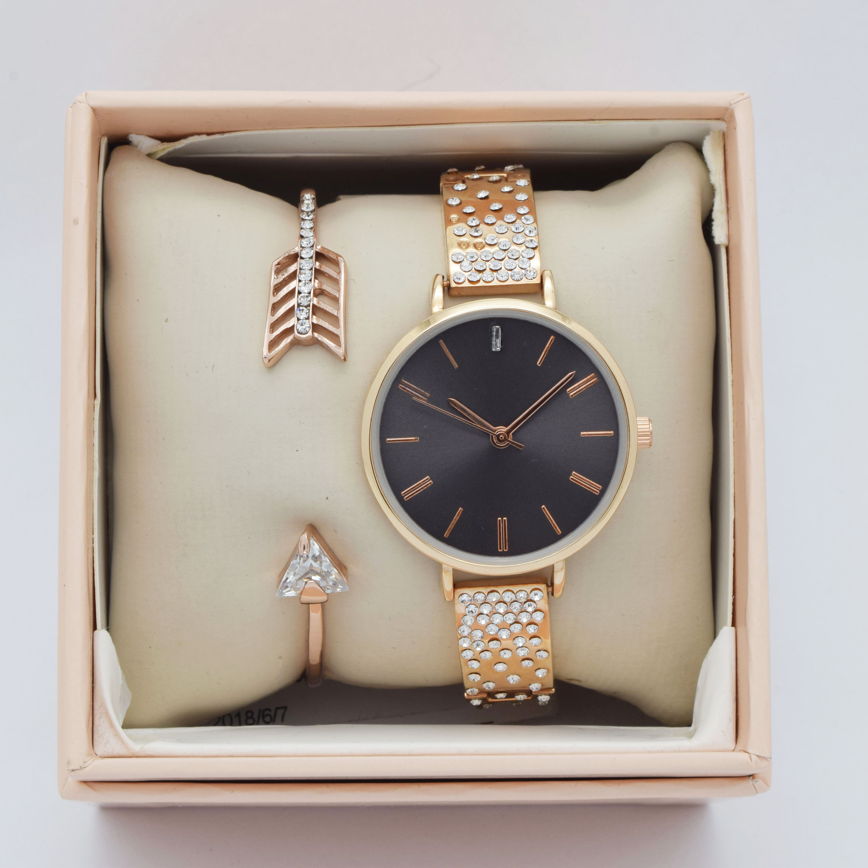 Venta al por mayor relojes oro rosa bisuteria Compre online