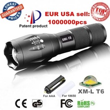 UltraFire E17 CREE XM-L T6 2000Lumens led Torch Zoomable LED Flashlight t6 light (3 * AAA / 1 * 18650) – Free shipping