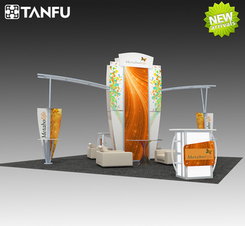 Exhibition Booth Stand : Or exhibition booth stand with island style for trade