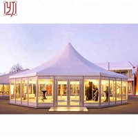 SGS certified hexagon white wedding party tent outdoor