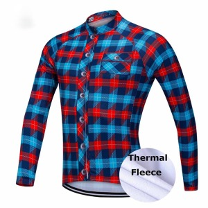 Wholesale Thermal Winter warm fleece long sleeve biking clothing sets bicycle cycling jersey with classic bib pants bundle