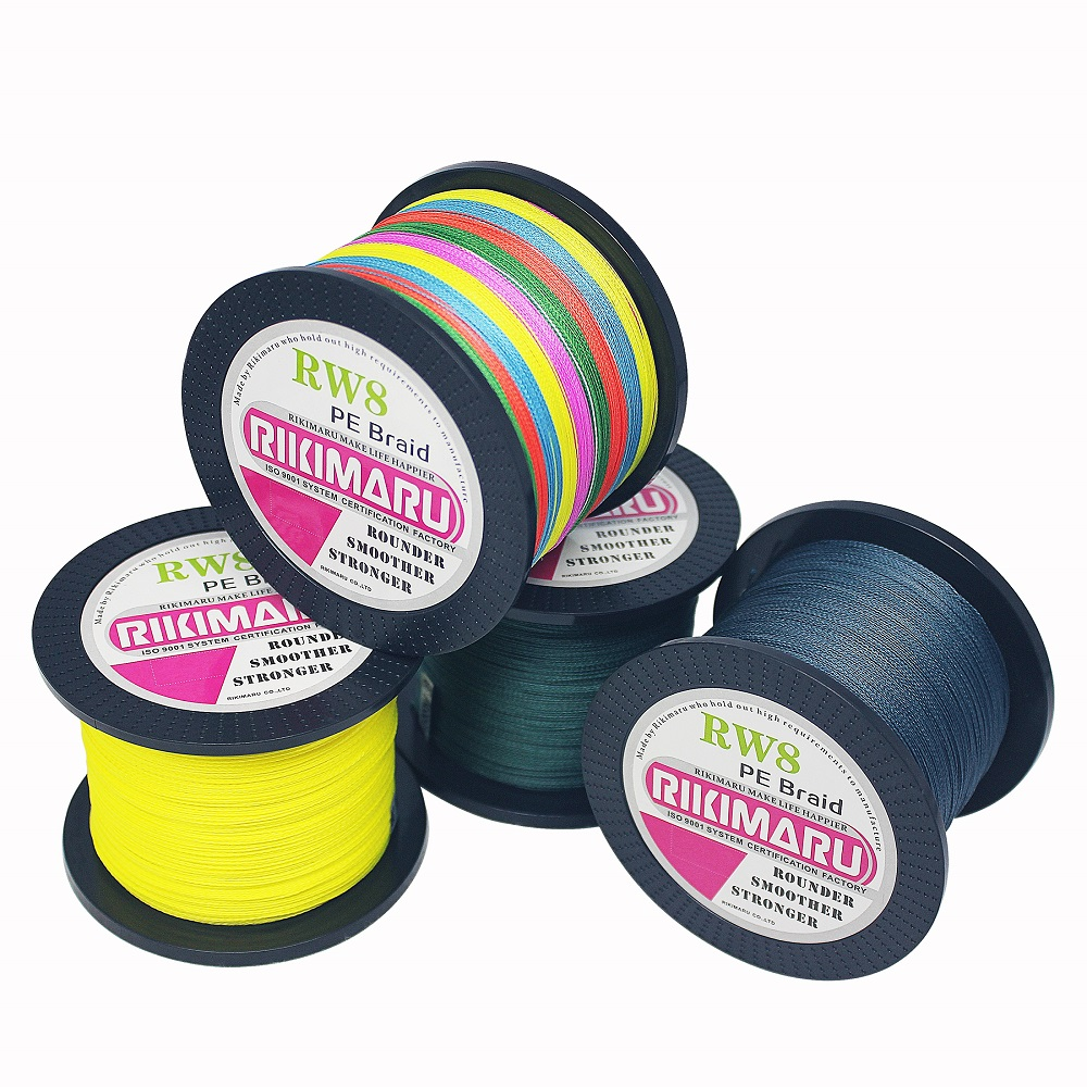 500m 8 strands braided fishing line PE fishing line 10LB-150LB, Any color