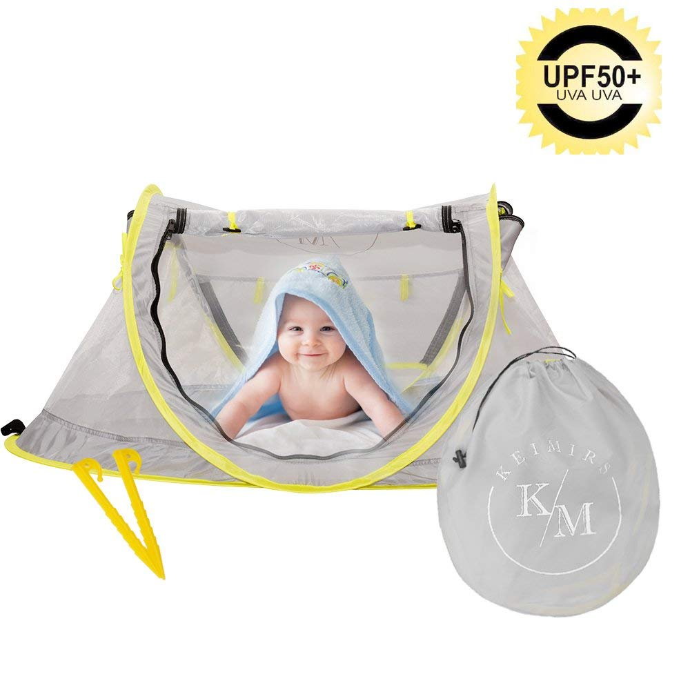 Cribs Beach Tent Portable Baby Travel Bed Up UPF 50 UV Travel Bed Baby Protection Sun Shelter Shade for Baby Under Age 2