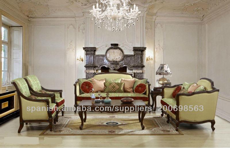 Sof de lujo espa ola para sal n muebles de la sala de for Sofas de estilo clasico