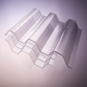 polycarbonate solid PC corrugated board for roofing plastic wave Panel
