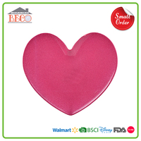 Valentine Decoration Use Plastic Melamine Pink Heart Plate With Small MOQ