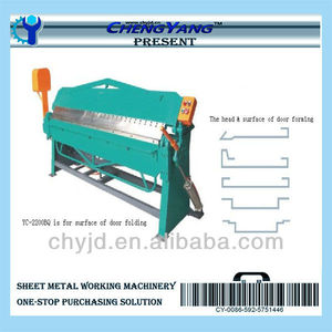 sheet metal manual Operated door Folder machine applied in furniture