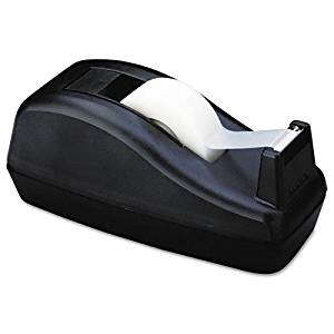 """Scotch : Deluxe Desktop Tape Dispenser, Attached 1"""" core, Heavily Weighted, Black -:- Sold as 2 Packs of - 1 - / - Total of 2 Each"""