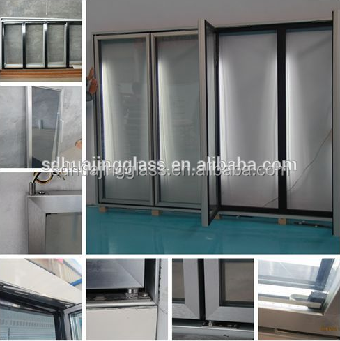 Glass door for Commercial Beverage/cold drink/soft drink Display Cooler Supermarket Refrigerator