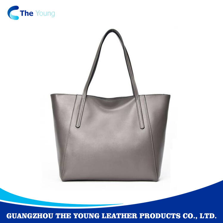 Top quality Womens business fashion felt tote leather bag 2017