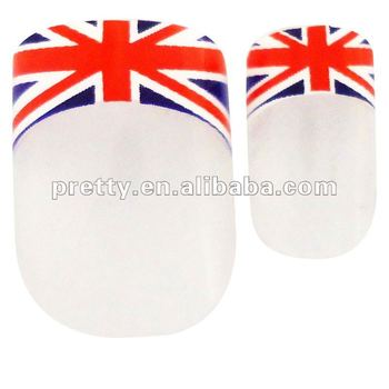 Nail Art New Style England Flag Design Pre Printing Nails For