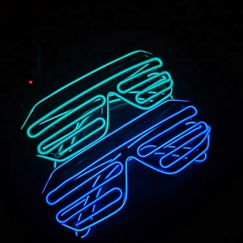 New Product Christmas Supplies Waterproof Custom EL Wire Led Neon Party Glasses