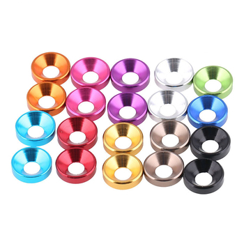 Colorful aluminum cup washers/countersunk wahsers/flat washers manufacturer