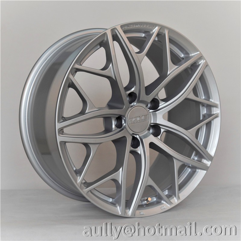 18 inch China Supplier Hot Selling Face Silver Aluminum Alloy Rims Mag Wheels Semi Forged Chrome Rims, FD104