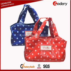China Manufacturer pvc coated cotton shopper tote bags