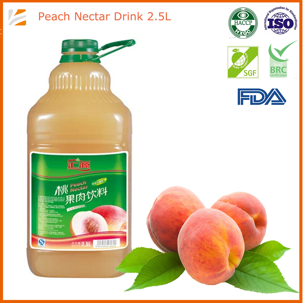 2500ml bulk peach <strong>fruit</strong> juice with <strong>fruit</strong> pieces wholesale