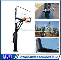 Adjustable Inground Outdoor basketball Hoops/Goal with Laminated Glass