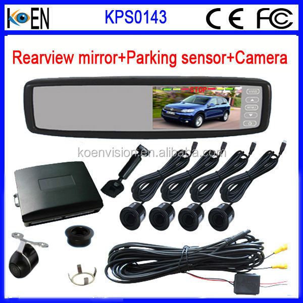 Car Ultrasonic Parking Sensor With Rearview Mirror And Camera Of Solution PC3030