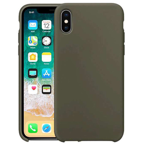 popular liquid silicone cell phone case for apple iPhone x xs with logo